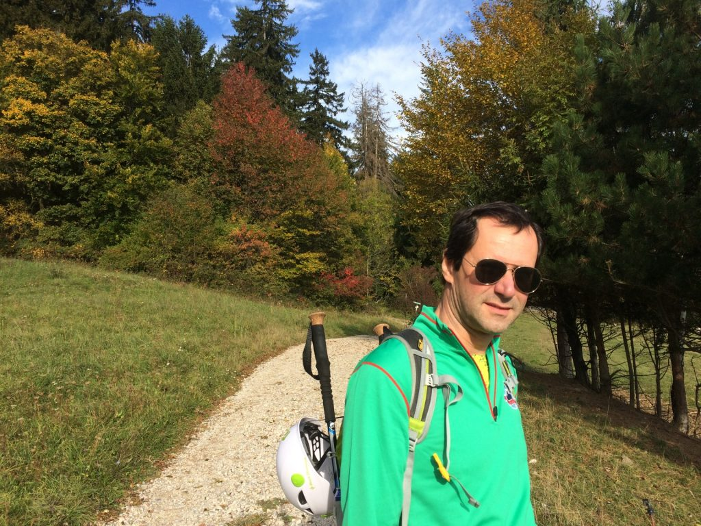Hans on the trail to the Währingersteig