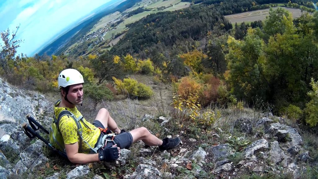 A short break before the crux of Ganghofersteig