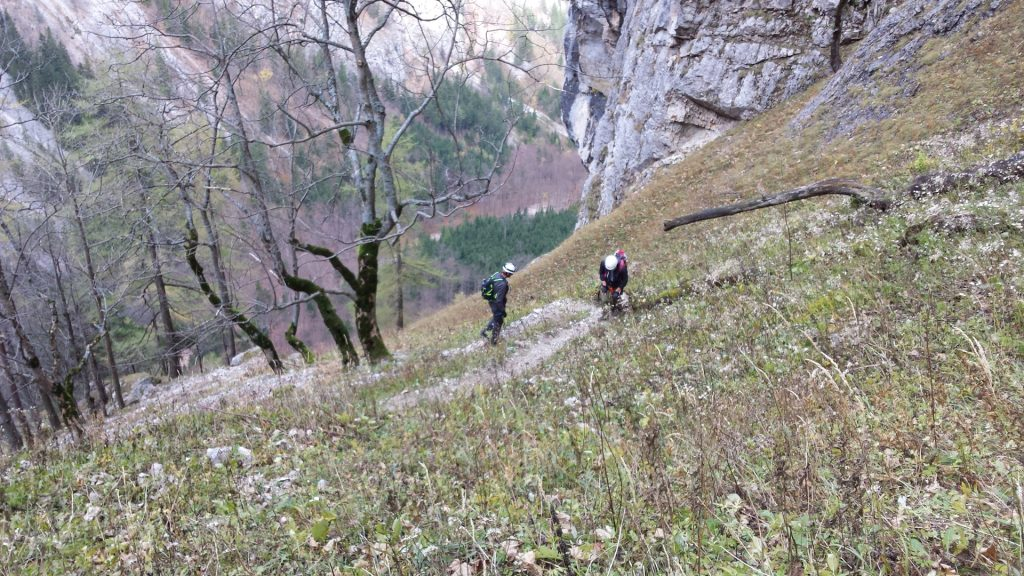 Hannes and Stefan on the trail