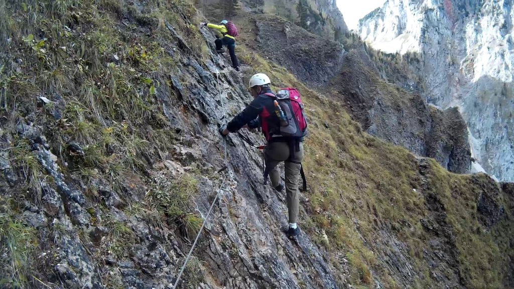 Nadja and Hannes at the traverse