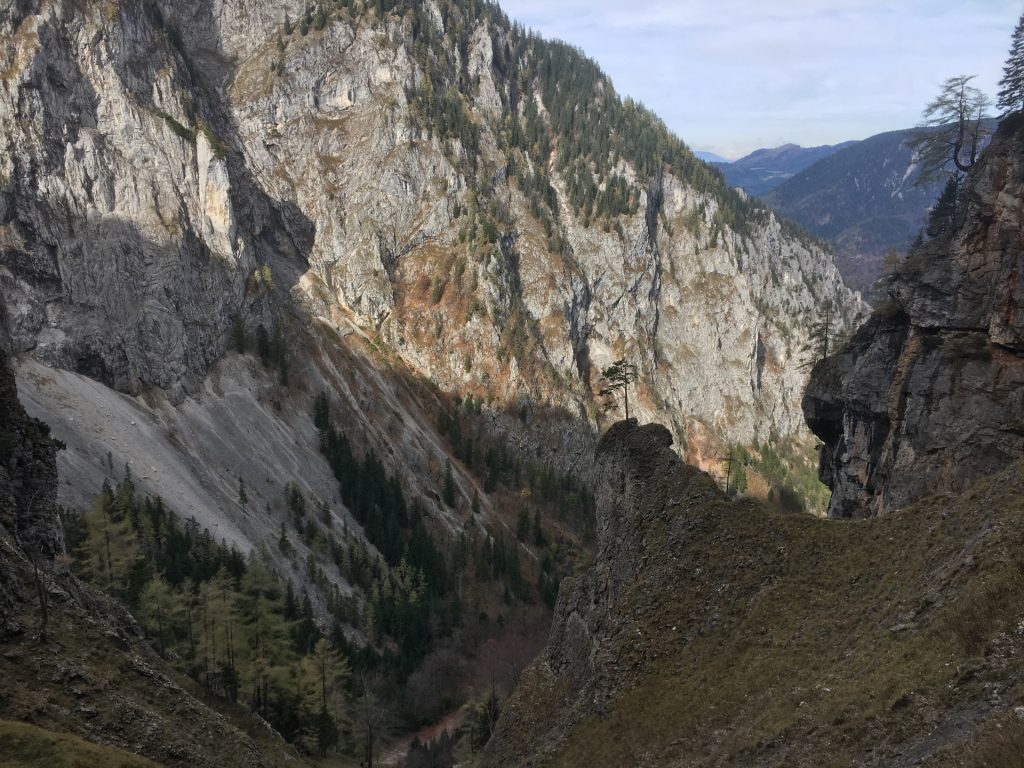 View from trail towards Höllental