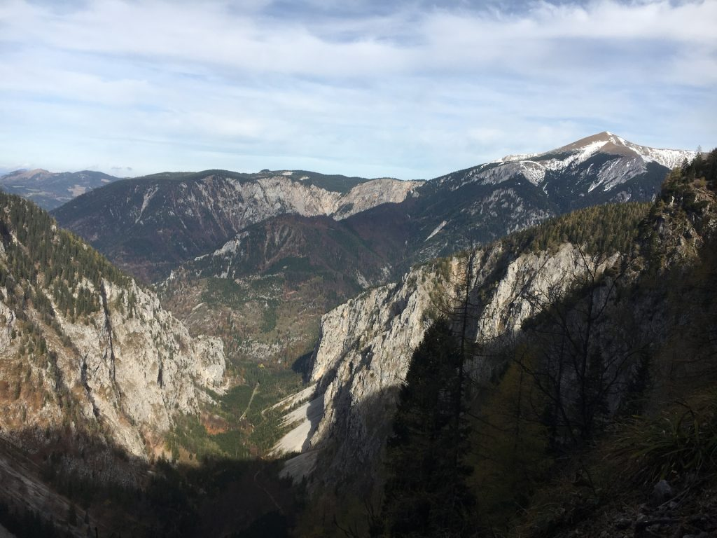View from trail back to Höllental