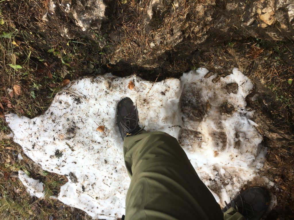 already some snow on the trail