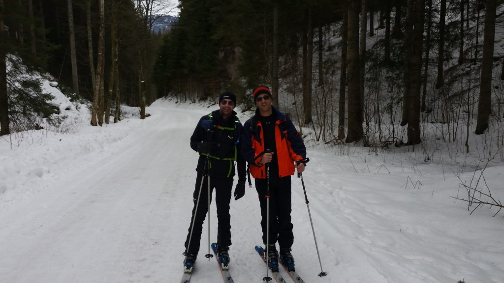 Stefan and Bernhard on the track