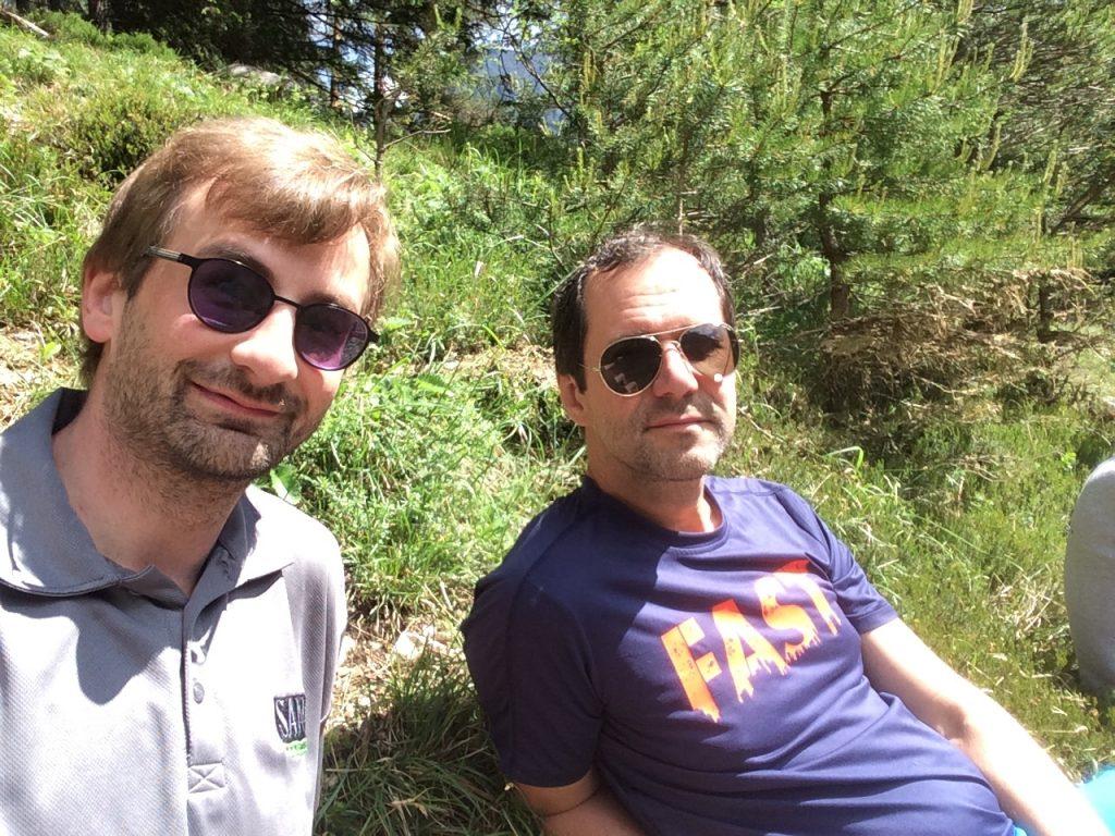 Stefan and Hans enjoying the break