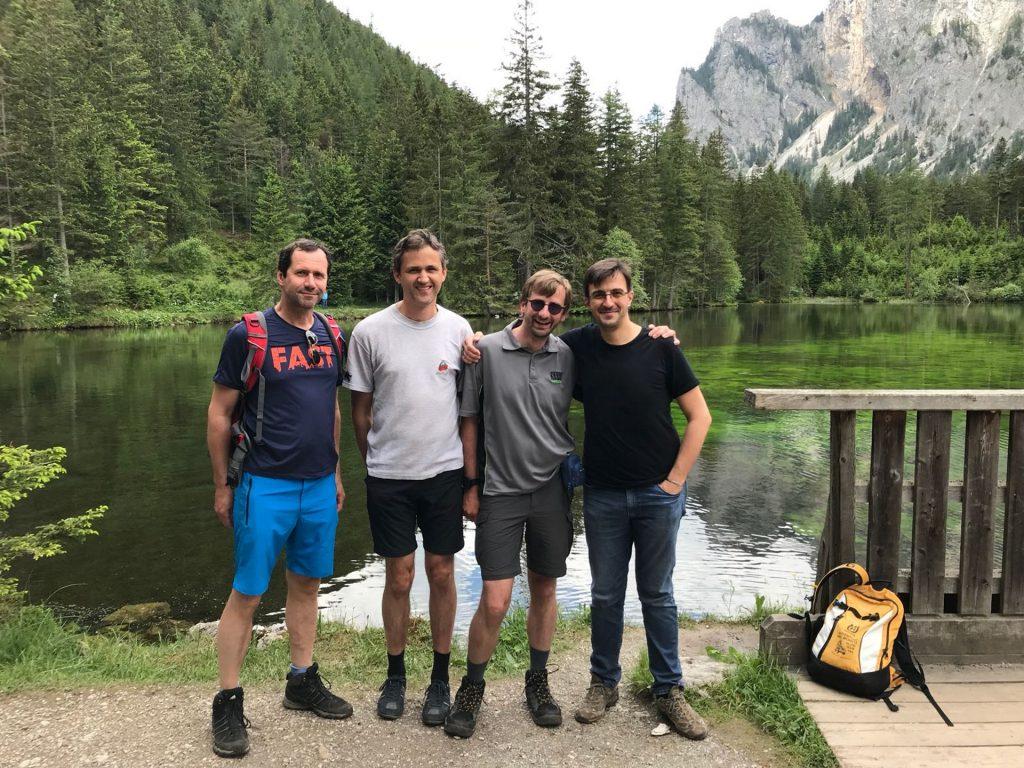 Hans, Bernhard, Stefan and Robert at the Kreuzteich