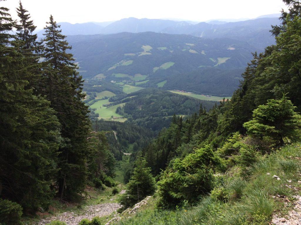 View downwards from Törlweg