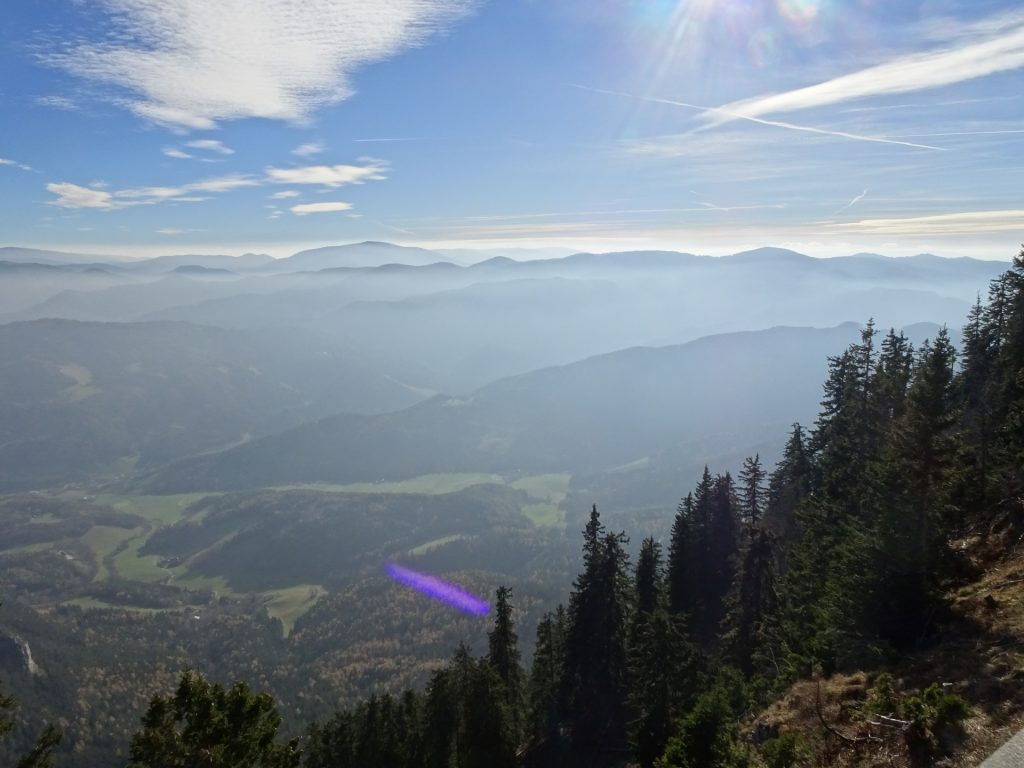 View from mountain station of the cable car