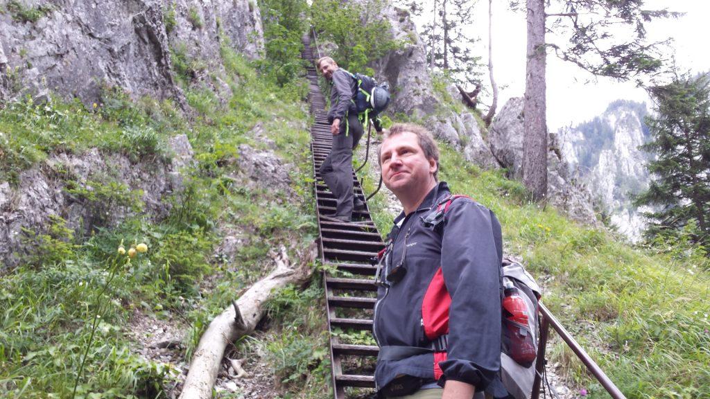 Stefan and Hannes at the Schönbrunnerstiege