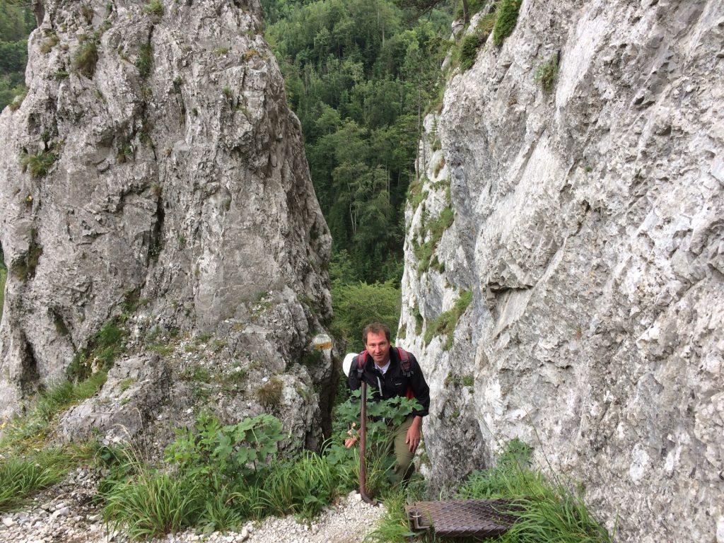 Hannes at the end of the Schönbrunnerstiege
