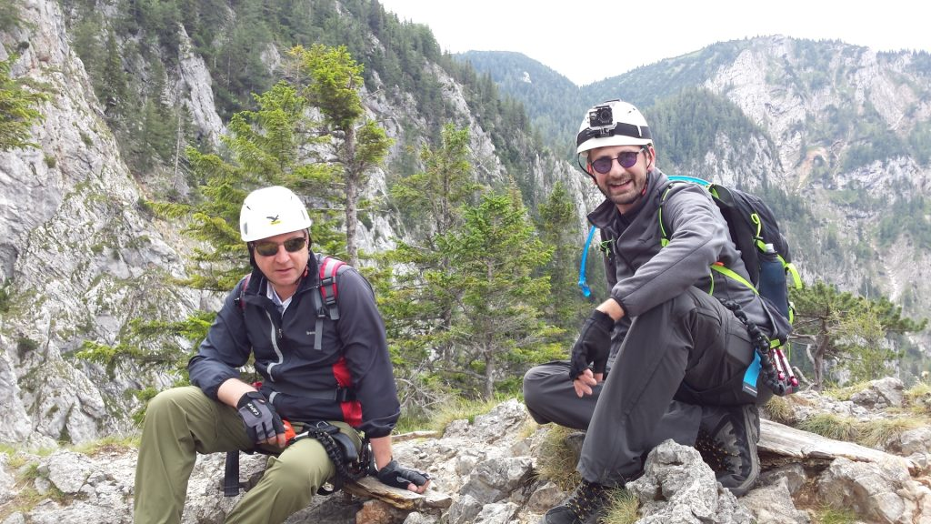 Hannes and Stefan taking a short break at the end of Teufelsbadstubensteig