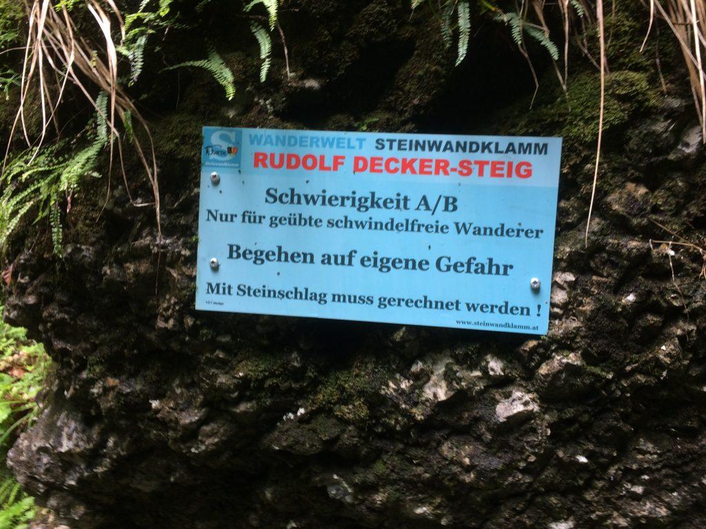 Start of the Rudolf-Decker-Steig