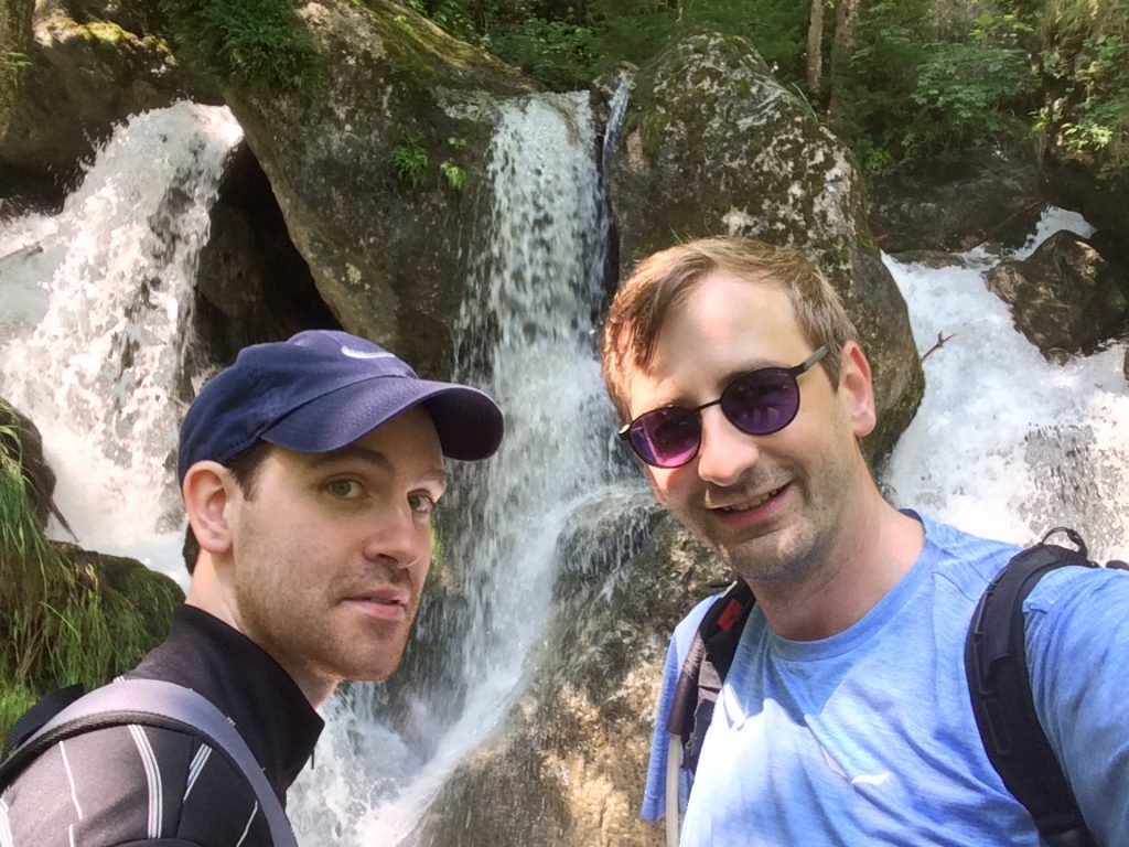 Rene and Stefan impressed by the waterfalls