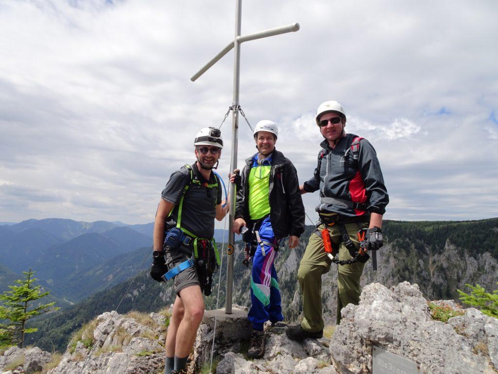 Stefan, Herbert and Hannes on the top of Turmstein