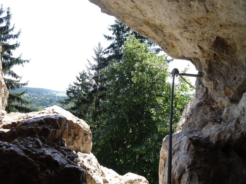 Towards the crux (out of the cave)