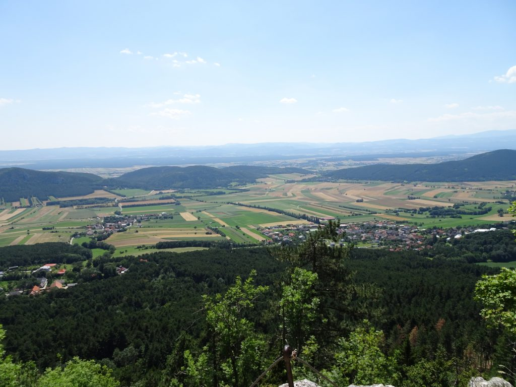 View from the plateau of Hanslsteig