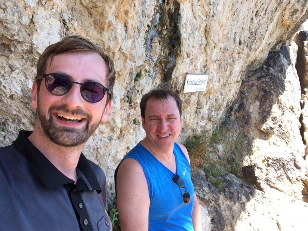 Stefan and Hannes enjoying the Karnitsch Stüberl