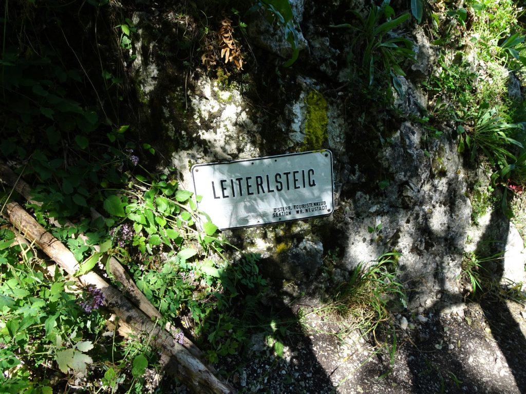 Descending via Leiterlsteig