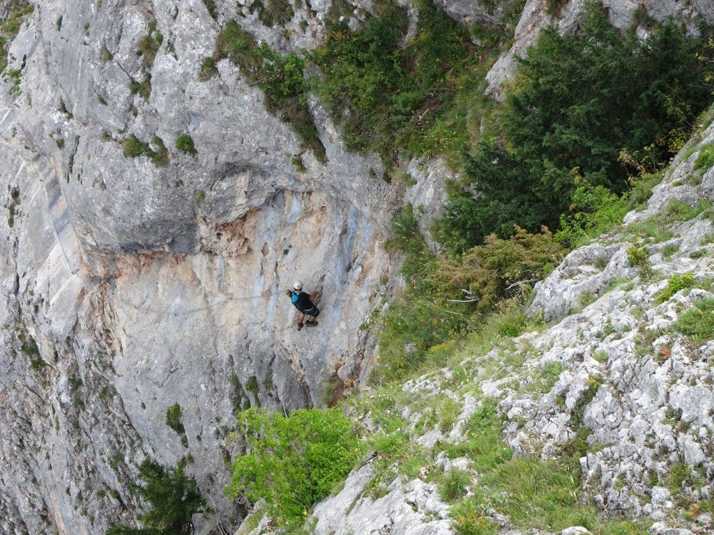 A hero climbing up the HTL Steig