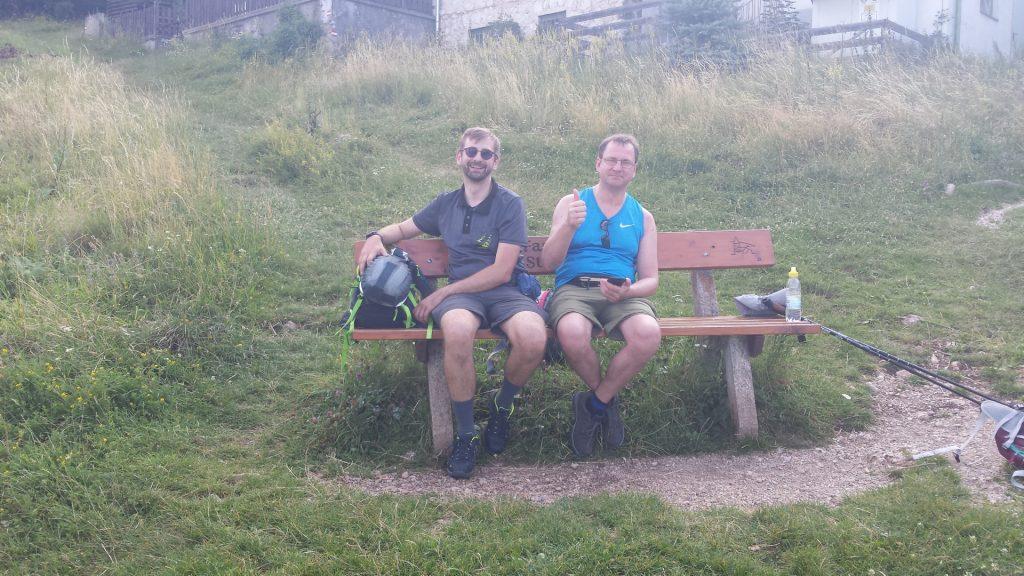 Well-deserved break (Stefan and Hannes)