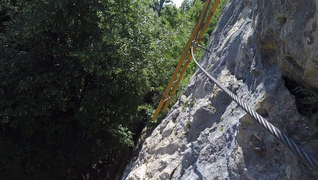 The iron ladder (crux of Währingersteig)