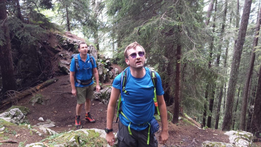 Hannes and Stefan surprised by the Via Ferrata