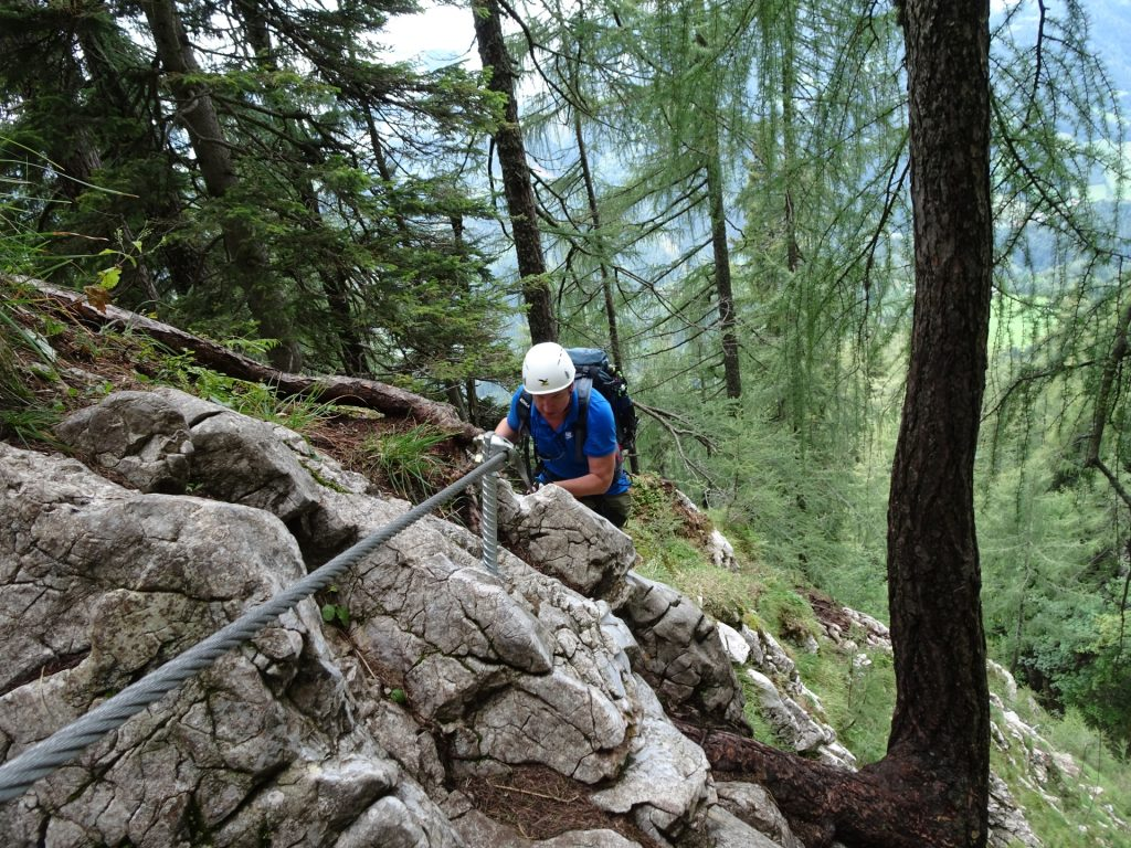 Hannes climbing