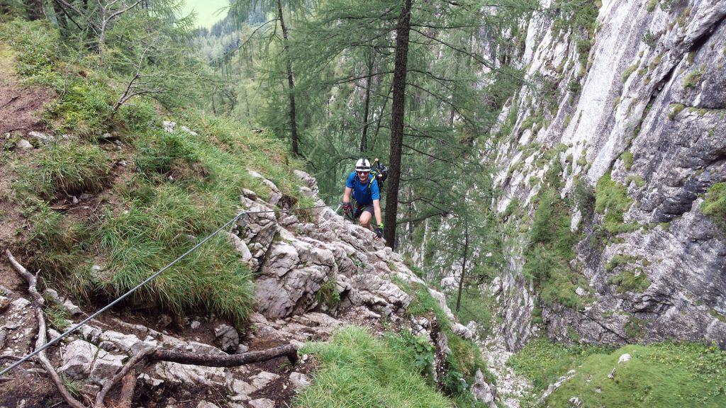 Stefan climbing
