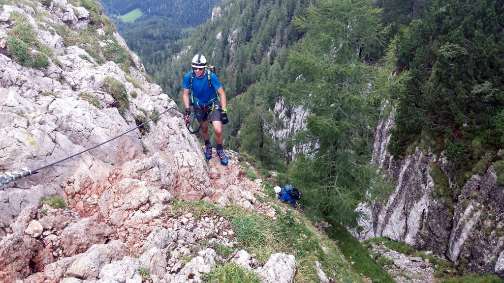 Stefan and Hannes climbing