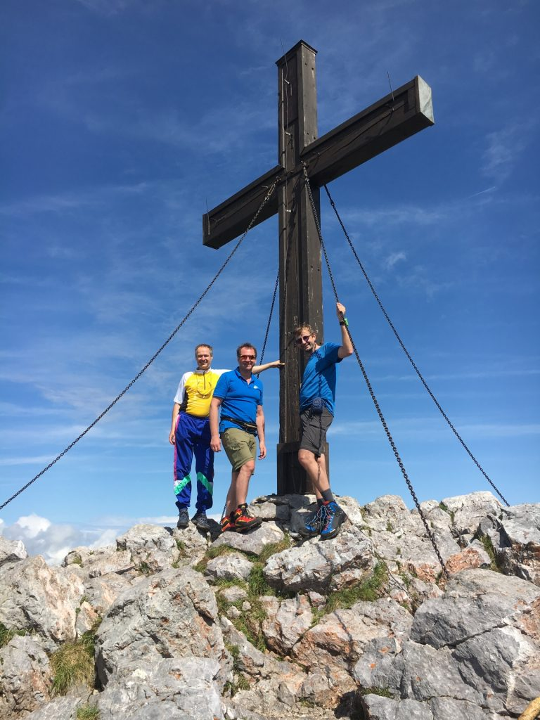 Herbert, Hannes and Stefan at the summit