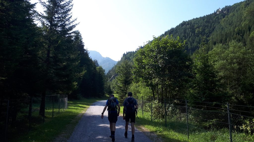 Stefan and Bernhard on the road