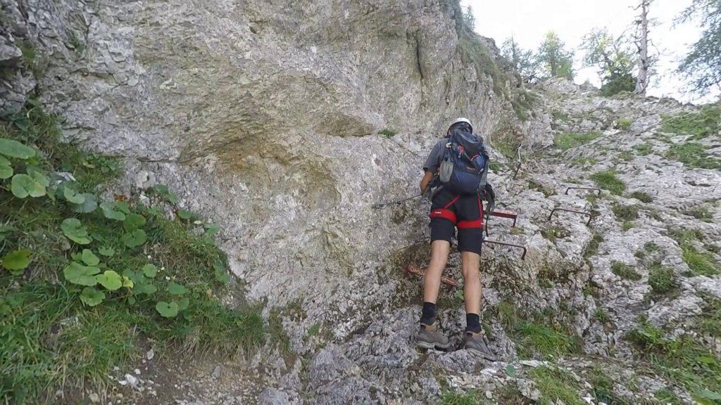 Bernhard on the next climbing part
