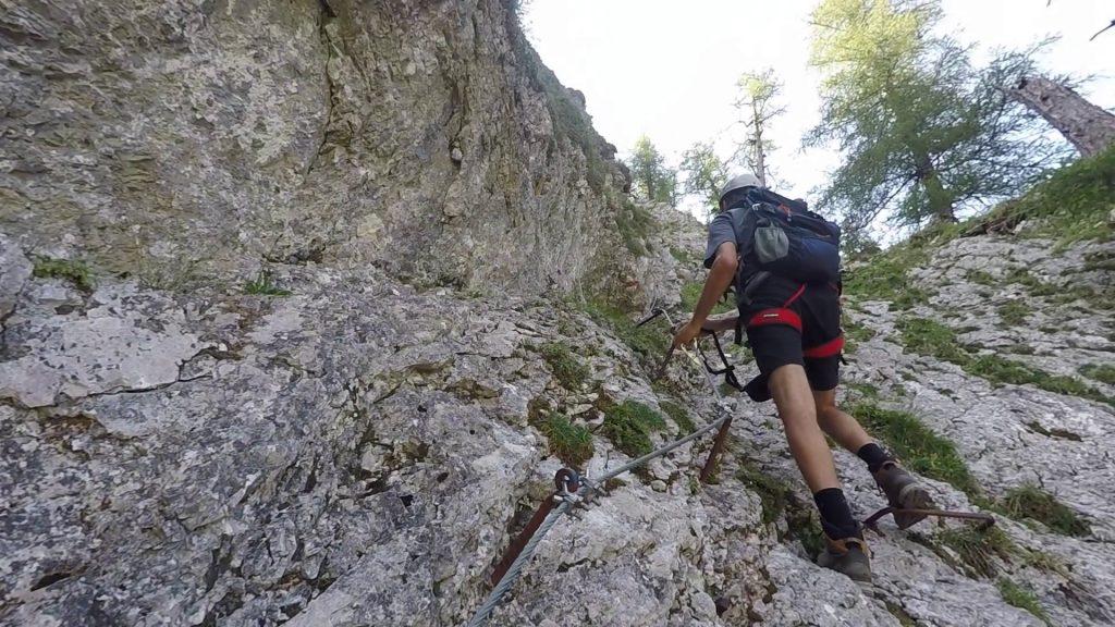 Bernhard climbing