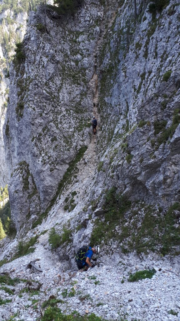 Some climbing downwards