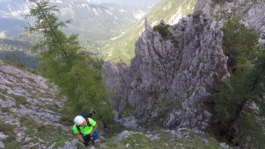 Hans climbing
