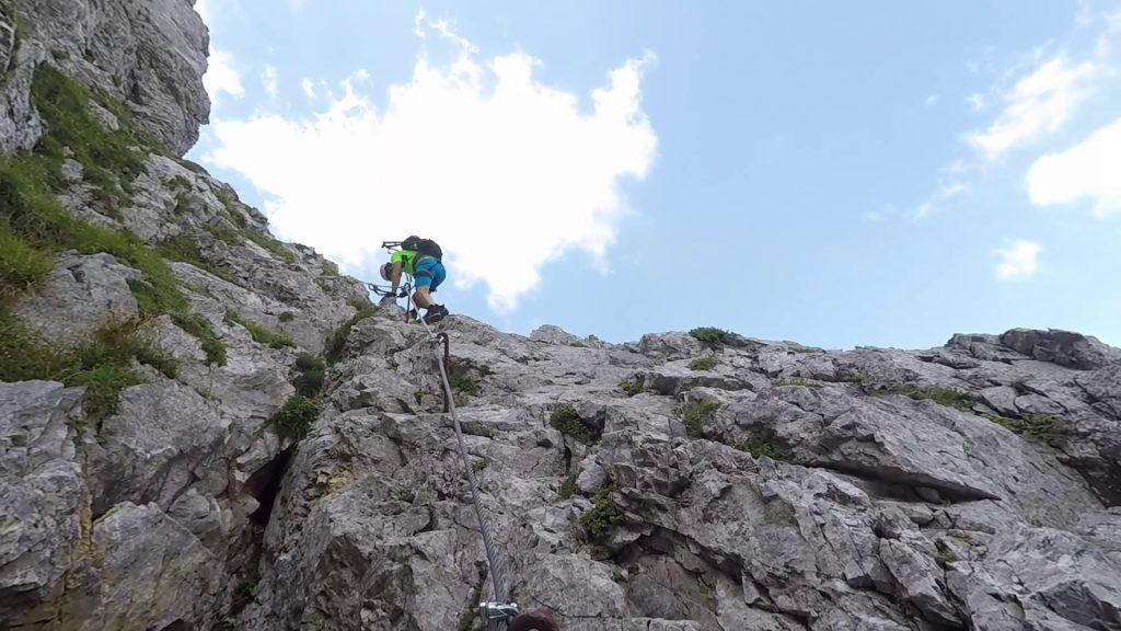 Hans descending on a more difficult part