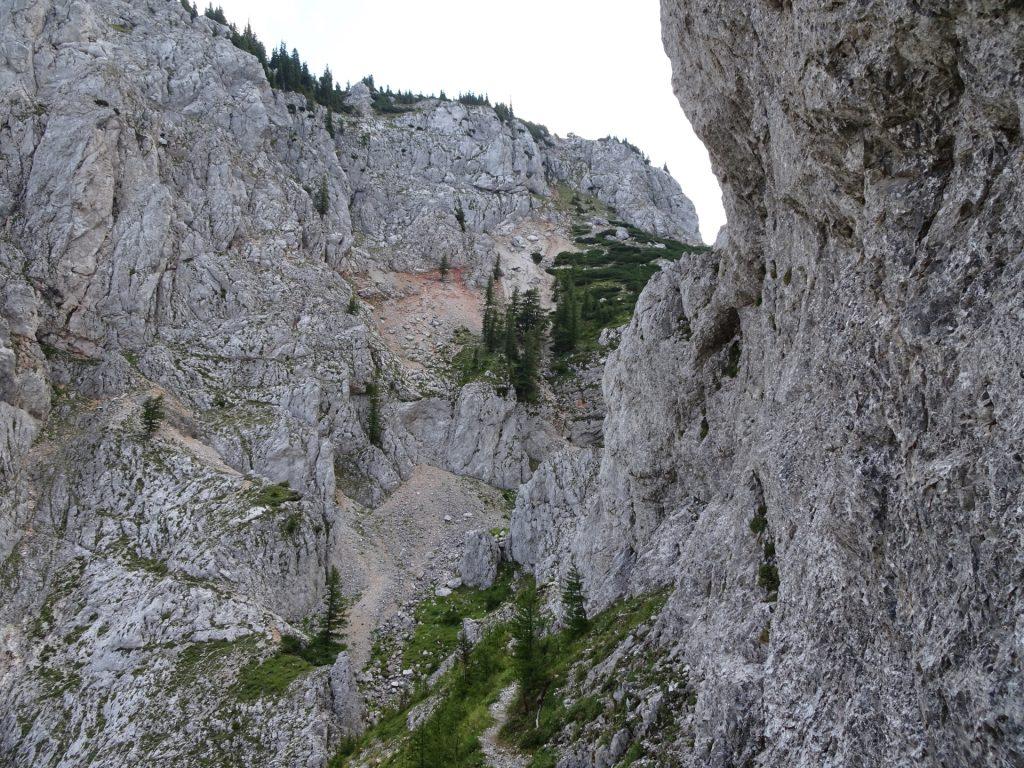 Final meters of the Bärenloch via ferrata