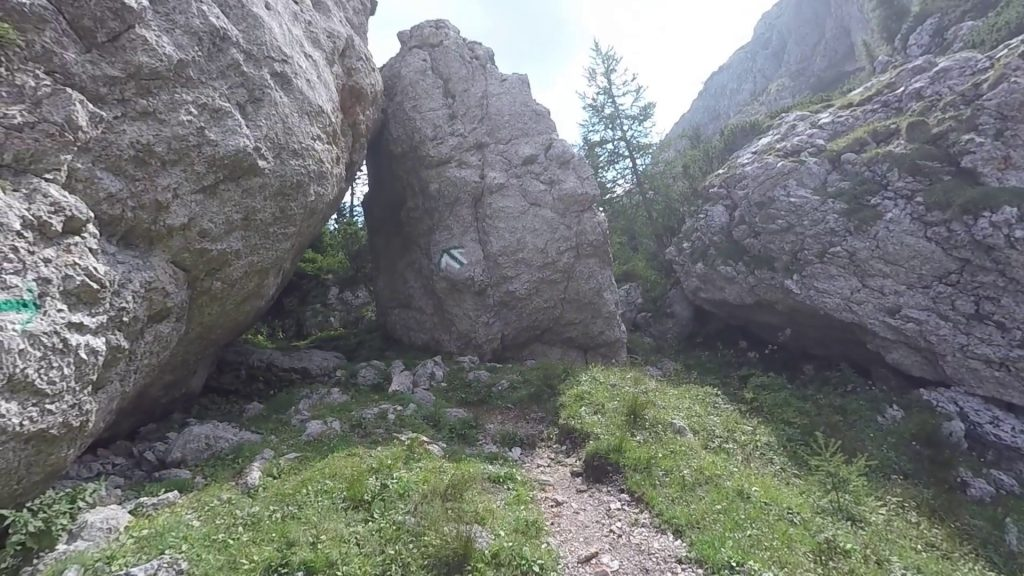 """The """"Tor"""" indicating the end of the via ferrata"""