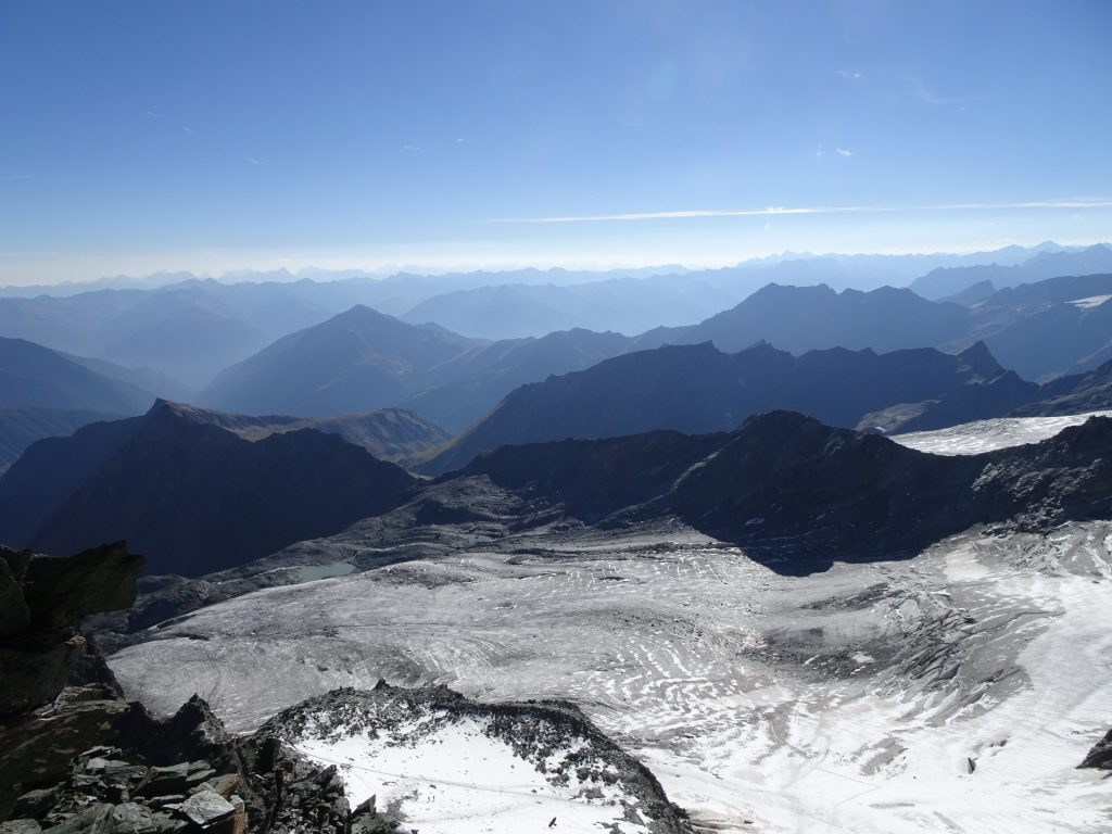View downwards on the glacier