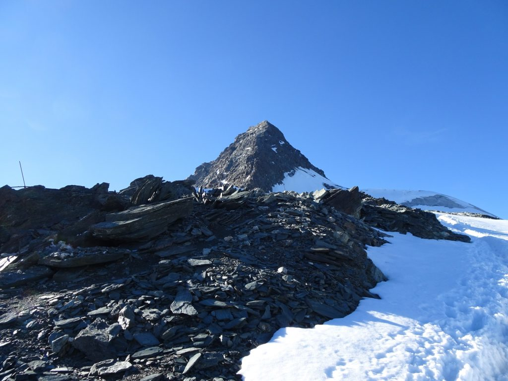 Test run with the crampons