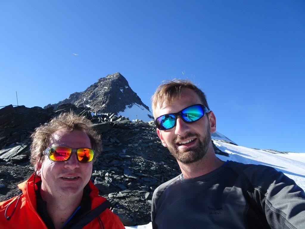 Hannes and Stefan in front of the Glockner