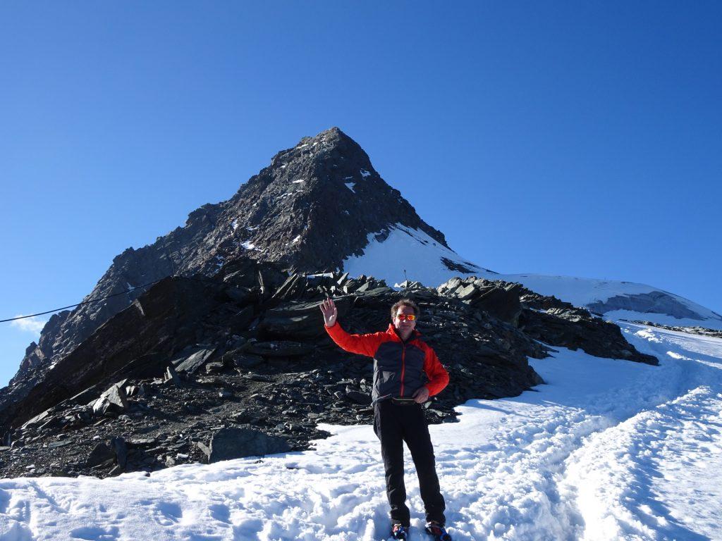 Hannes in front of the Glockner
