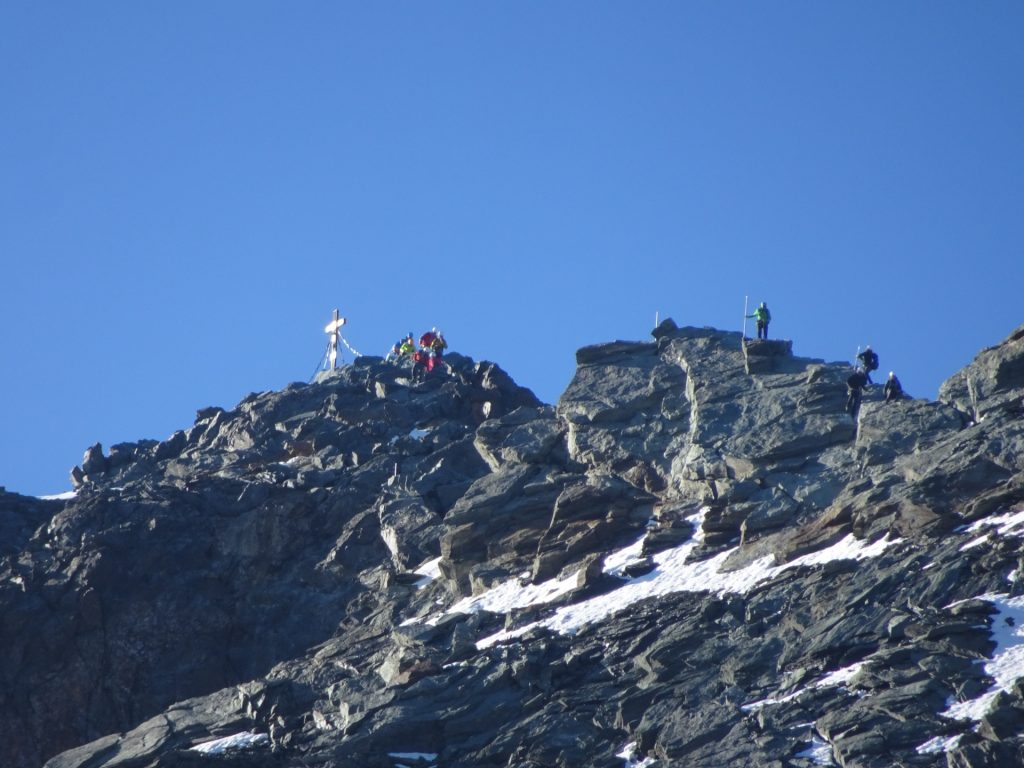 The summit is crowded