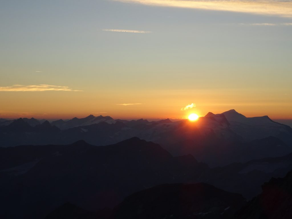 Sunset at the Erzherzog-Johann-Hütte