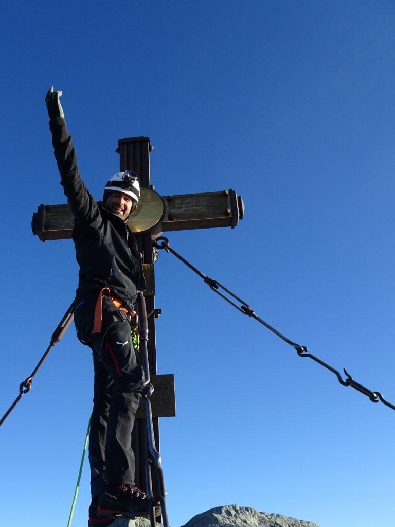 Stefan at the summit cross