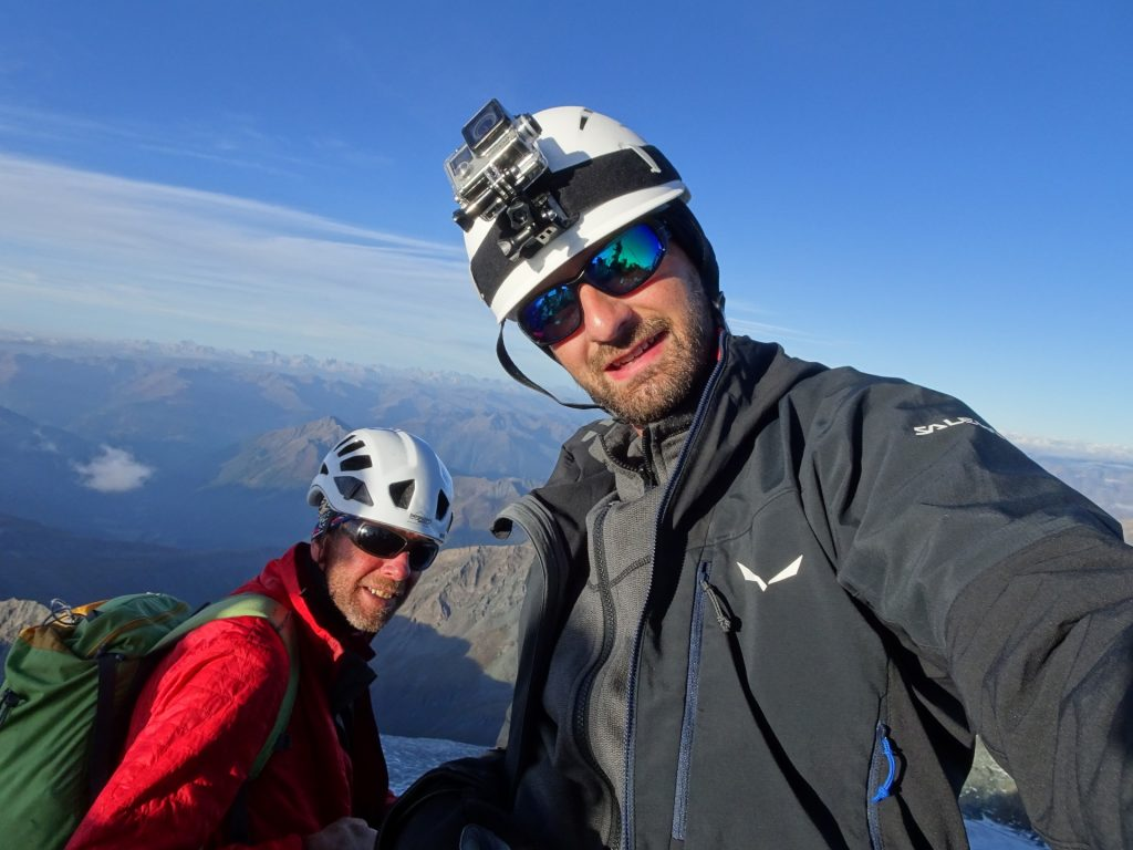 My mountain guide and me :-)