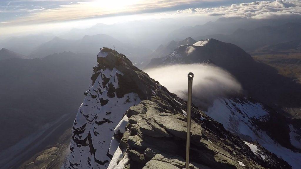 Exposed trail towards Kleinglockner