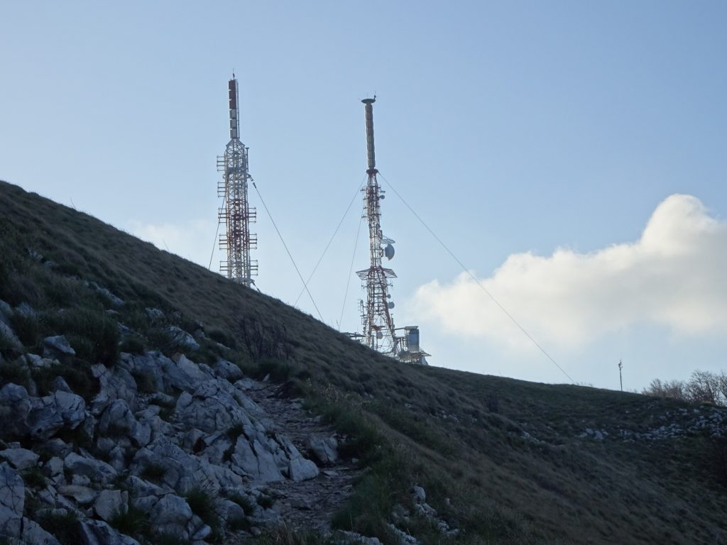 The antennas at the peak