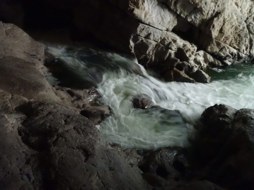 Rika river in the cave (Tour #2)