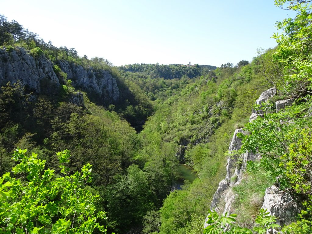 View from the gorge (steep part)